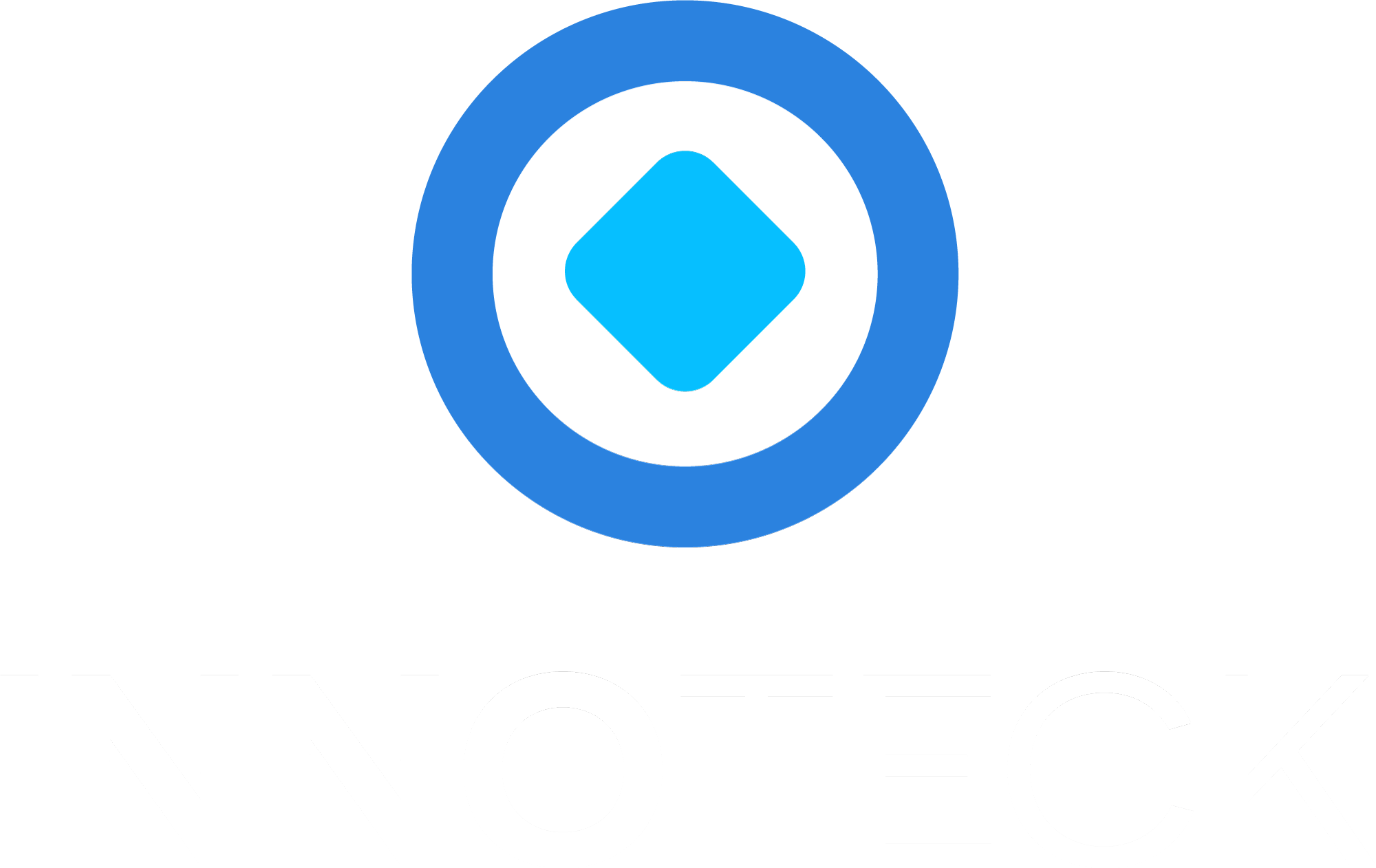 Innoteck Logo vertikal - weiße Schrift